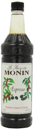 Monin Flavored Syrup Espresso 338Ounce Plastic Bottles Pack of 4 ** Click image to review more details.