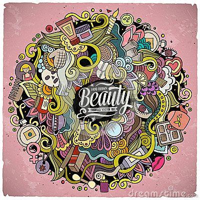 Illustrazione disegnata a mano di bellezza di scarabocchi svegli del fumetto