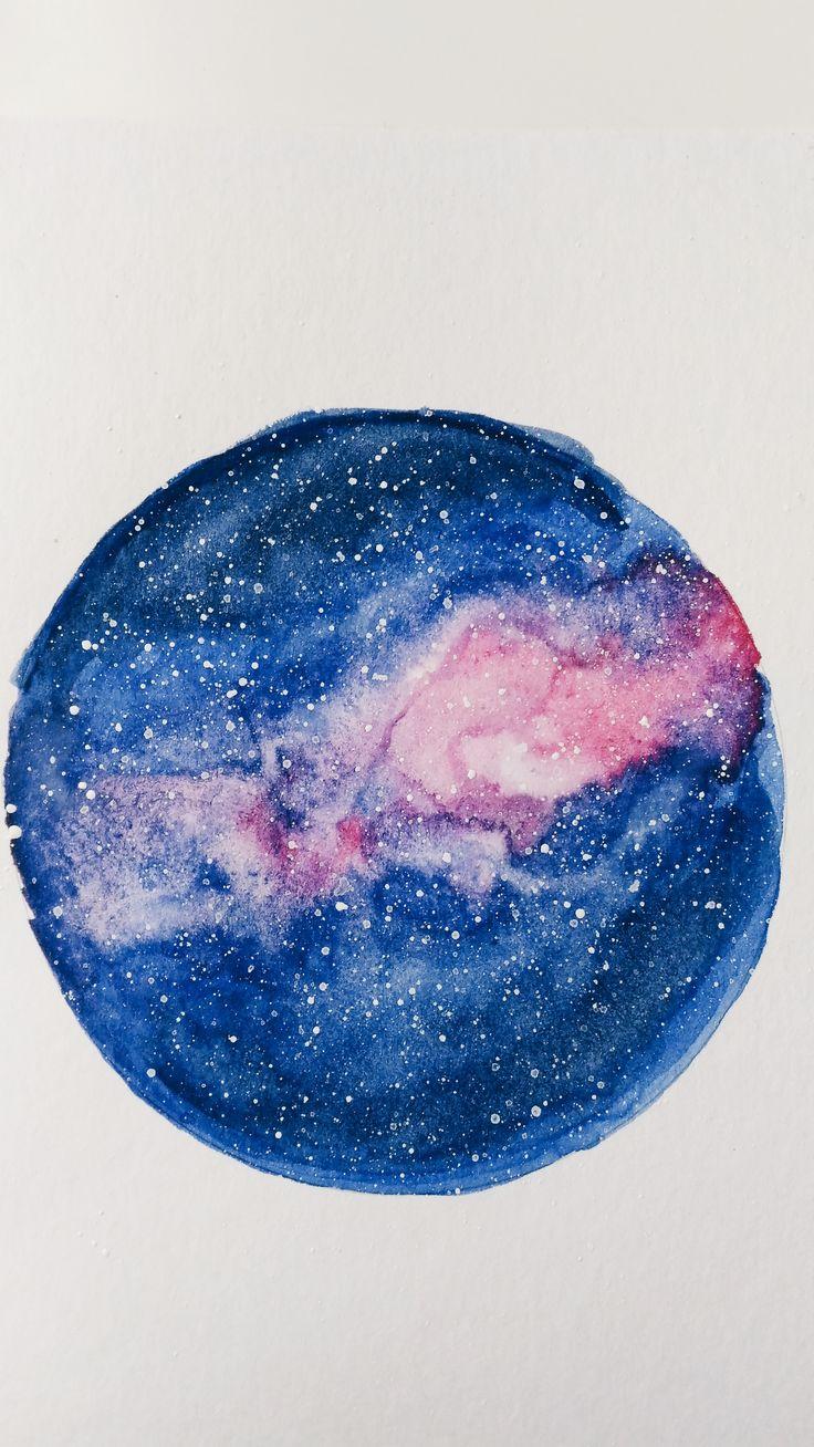 Watercolor Galaxy. Galaxia acuarela.