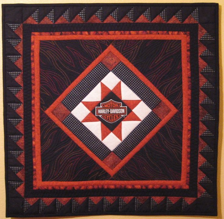 Quilt To The Edge: Debriefing The Boxer Another Harley Davidson Quilt!