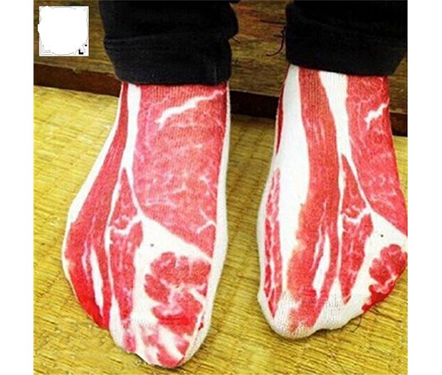 Bacon socks- Love them? Now you can wear them!