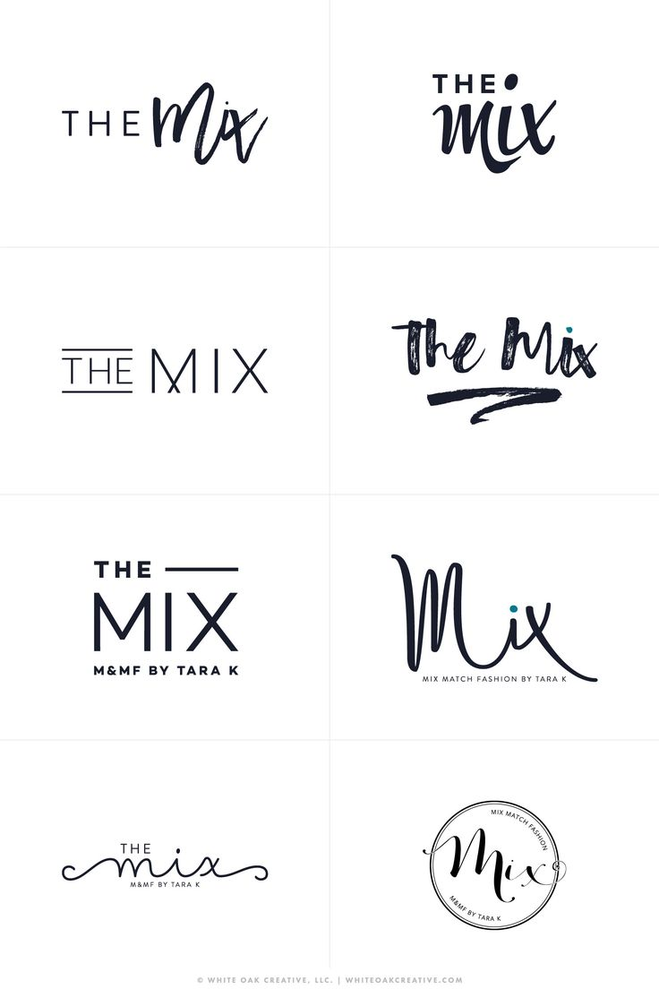 The Mix By Tara - Logos R1 - logo design, wordpress theme, mood board inspiration, blog design idea, graphic design, branding, style blog, fashion                                                                                                                                                      Más