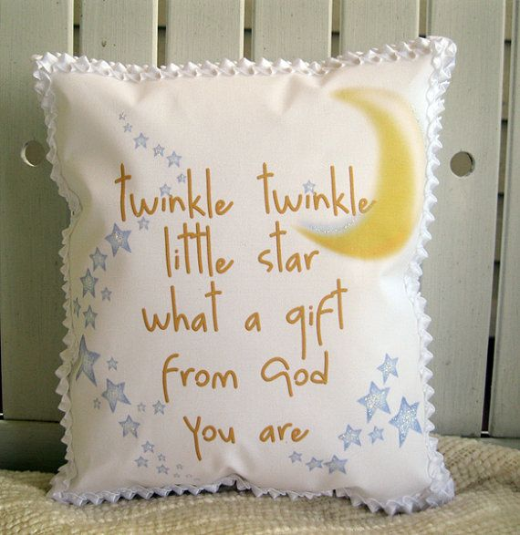 Twinkle twinkle little star pillow by judibdesigns on Etsy, $25.00