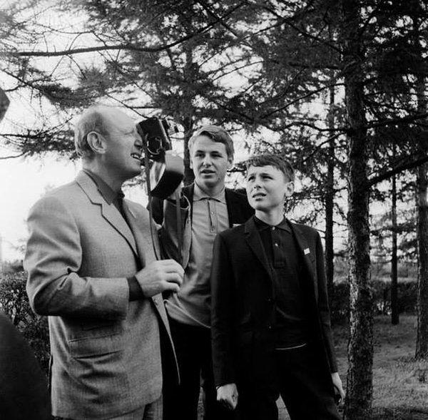 1967 - Festival international du film de Moscou, Bourvil, Dominique et Philippe sur un voyage à Moscou