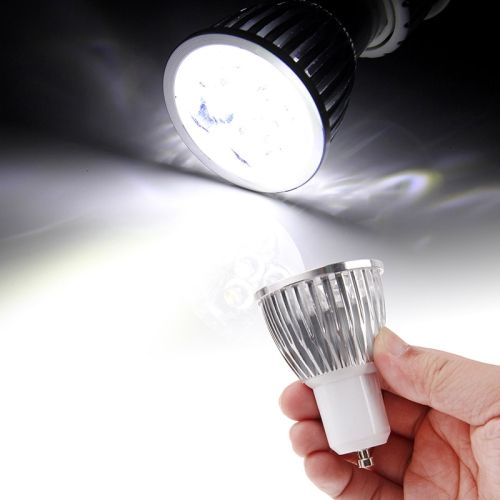 [USD2.19] [EUR2.04] [GBP1.58] 5 x 1W GU10 450LM White Light LED Spotlight Lighting Bulb  (AC85-265V,6000K)