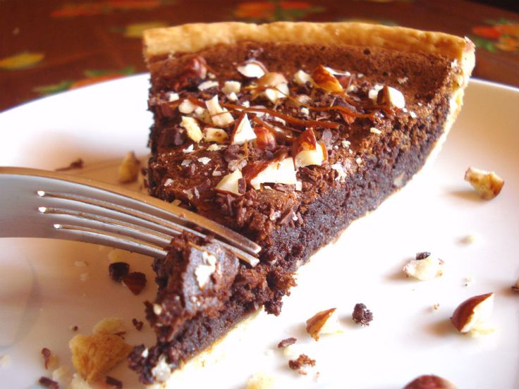 Chocolate Hazelnut Pie - One Fool Pie