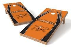 Campbell University Camels Single Cornhole Board - The Edge