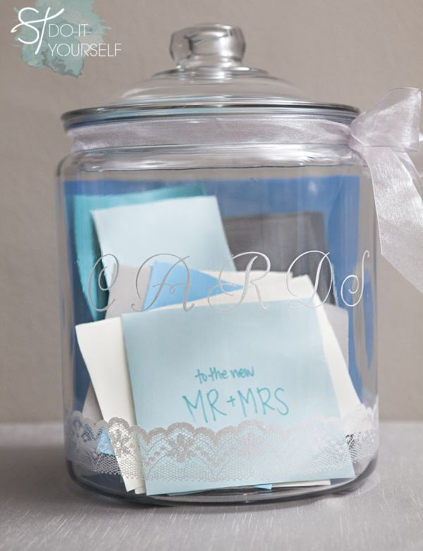 Perfect DIY to help save all the great greeting cards you receive on your wedding day.