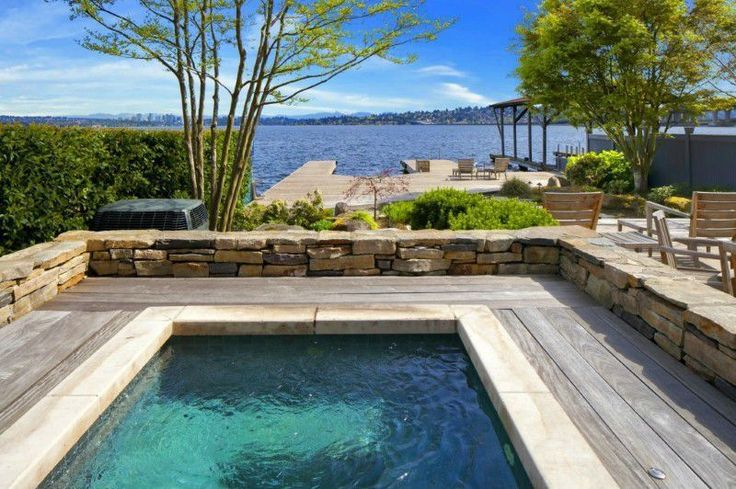Rustic Hot Tub with Raised beds, Traditional/Geometric Residential Pools, exterior stone floors, Pathway