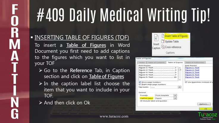 #TuracozHealthcareSolutions informs you how to insert #Table of figures in a #WordDocument.