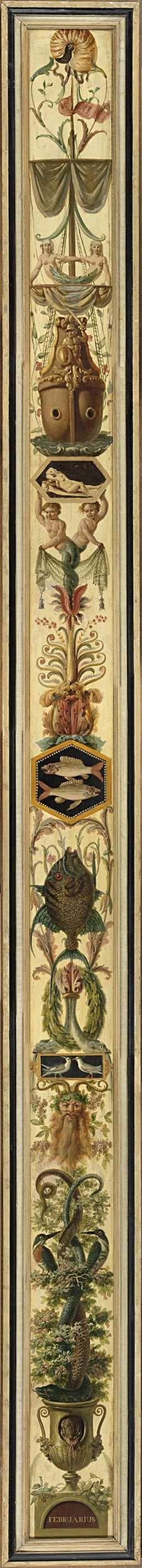 Negen maanden met de tekens van de dierenriem: Februari met het teken van de vissen, Jan Kamphuysen, 1790 - 1791