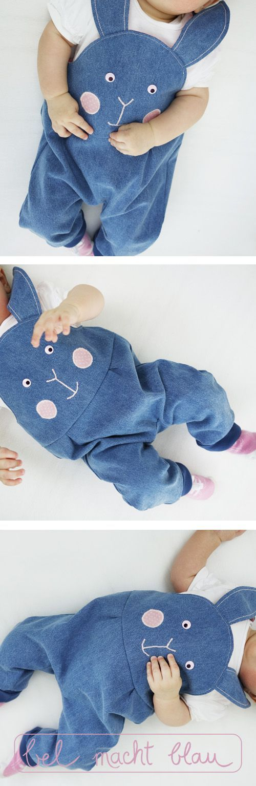 Sewing instructions: Bunny dungarees (Babyhose-Mikey-Variation)