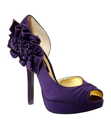 43 Best Images About Kara 39 S Wedding Shoes On Pinterest Purple Satin Pu