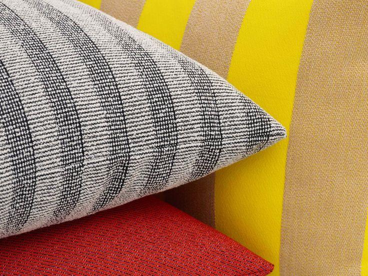 Kvadrat/Raf Simons cushions in the textiles: Pulsar, Masai and Reflex