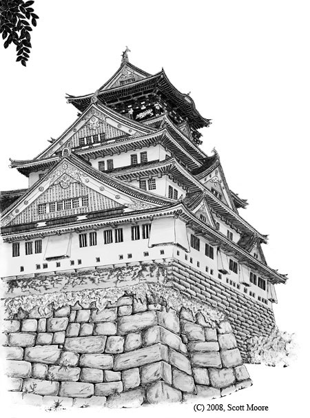 japanese castle coloring pages - photo#12