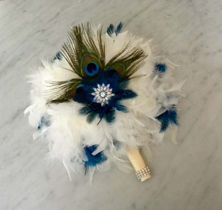 Diy Feather Bouquets Weddings: Peacock Feather Bouquet