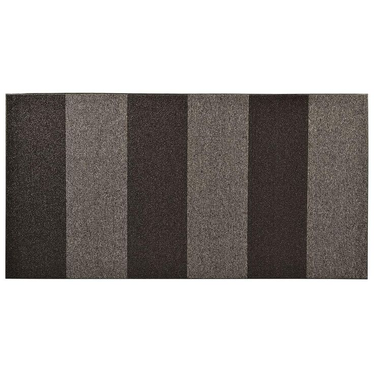 Textura Color Block Charcoal (Grey) 36 in. x 144 in. Vinyl-Backed Entrance Mat