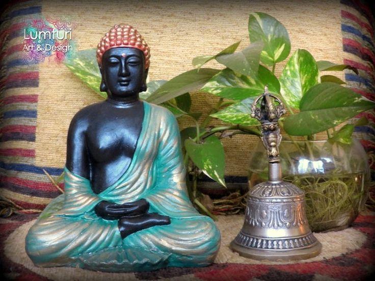 Meditacion mediano negro 21x16 cm