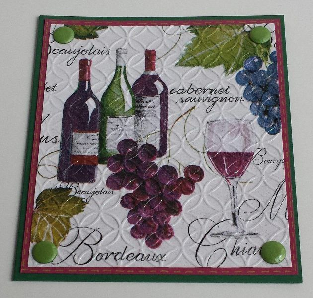 Wein, Serviettentechnik,  Herbst