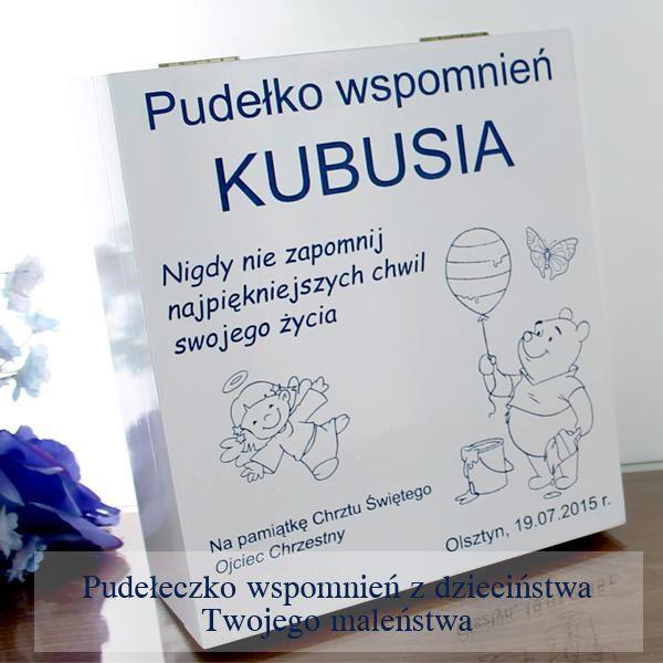 Pudełeczko wspomnień z pamiątkami z dzieciństwa to doskonały prezencik dla Twojego maleństwa czy chrześniaka na roczek!  http://bit.ly/1hpyjOd