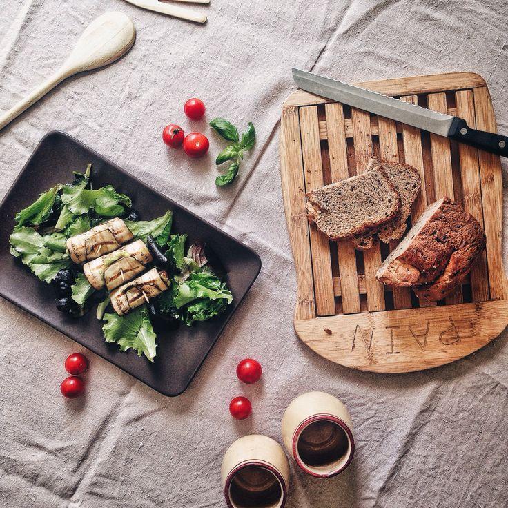 #Recipe | Involtini di melanzane con salsa di avocado, senape e pomodorini // Eggplants rolls stuffed with avocado sauce, mustard and cherry tomatoes | F4OD #vegan