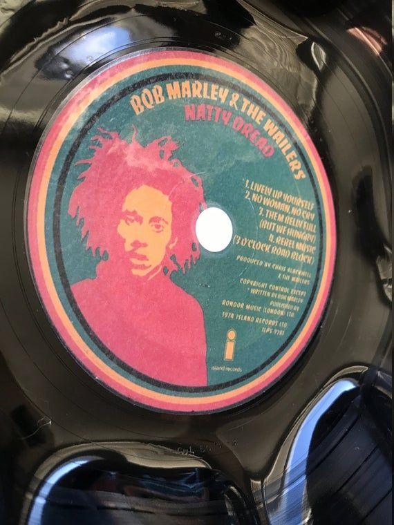 Record Bowl Classic Reggae 12 Vinyl Vintage Reggae Vinyl Collectible Bob Marley The Wailers Record Bowls The Wailers Bob Marley