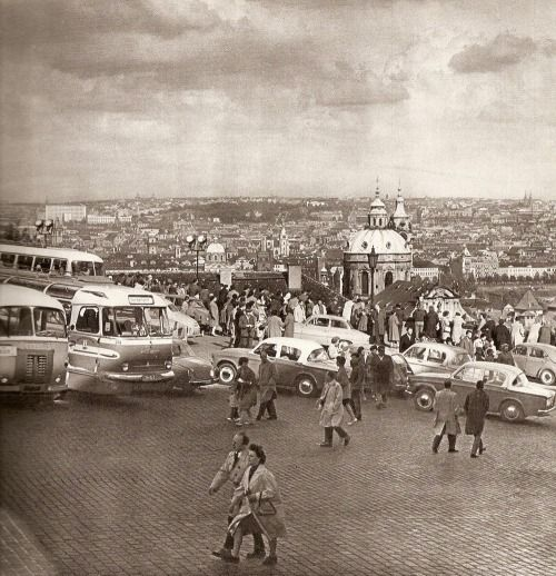 Prague in 60s by Karel Plicka