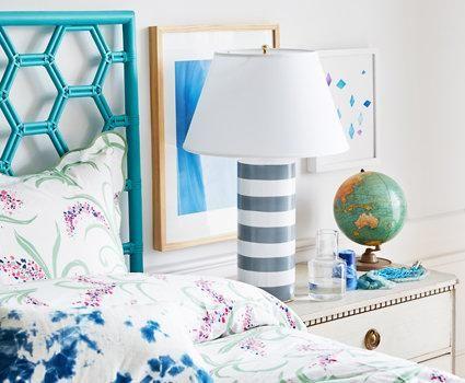 Virginia-based designer Dana Gibson has a flair for far-flung motifs and fresh, vibrant color.