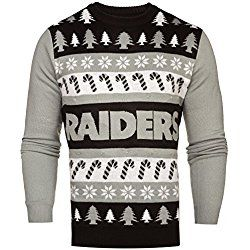 NFL Oakland Raiders One Too Many Light Up Sweater, Large