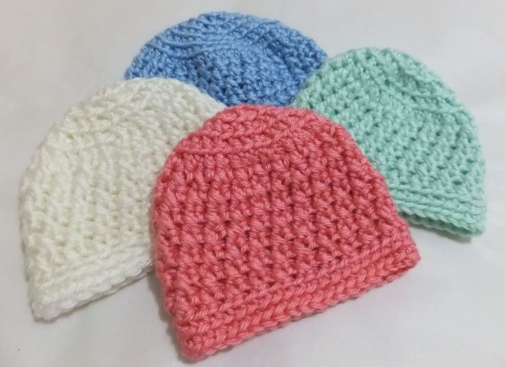 'Nanna's Kisses Baby Beanie' this is my own pattern - very first published!! These beautiful little baby beanies are available for sale - made to order - sizes Preemie-Newborn @ $8 each or 5 for $20. Great choice of colours, just advise your preference/s.  PATTERN also available in my Ravelry Store - Vilma Carter Designs http://www.ravelry.com/designers/vilma-carter