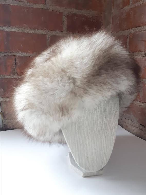 Vintage Fox Fur Hat Norwegian Blue Fox Fur hat