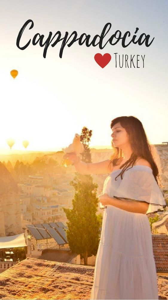 Sunrise in Cappadocia (Turkey) with hot air balloons. A visit to Cappadocia will make you feel like you're a disney princess (or prince). Stunning viewpoints, fairy chimneys and underground cities.. plus hundreds of hot air balloons in the sky. This is Göreme or Goreme in Cappadocia, Turkey.