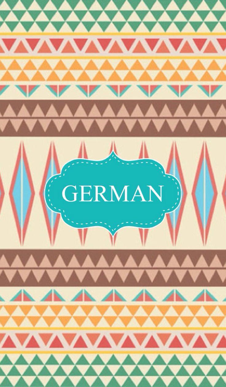 german binder cover