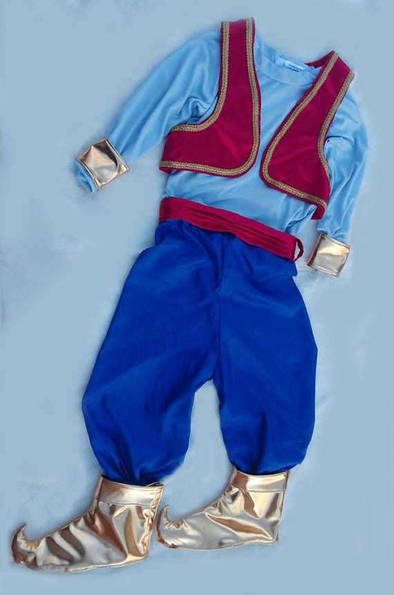 Genie Costume Baby Aladdin Outfit Photoprop Kids Toddler