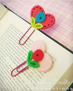 Lovely bookmarks made by Holiday Crafts and Creations