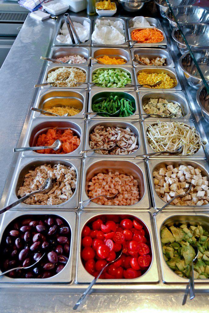 Salad bar at the market Sunday Brunch of Paris Budapest Restaurant