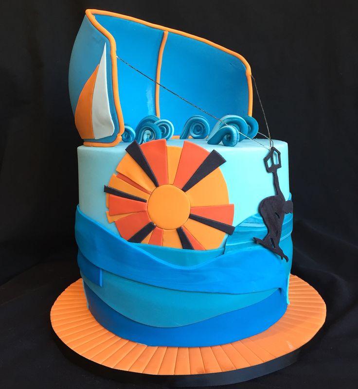 Kitesurfing themed cake #allsortscakessydney