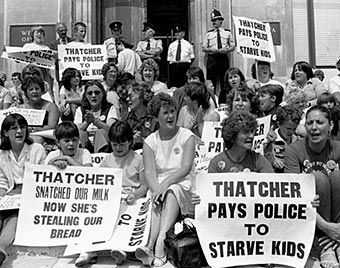riots against margaret thatcher in the 80s - Google Search