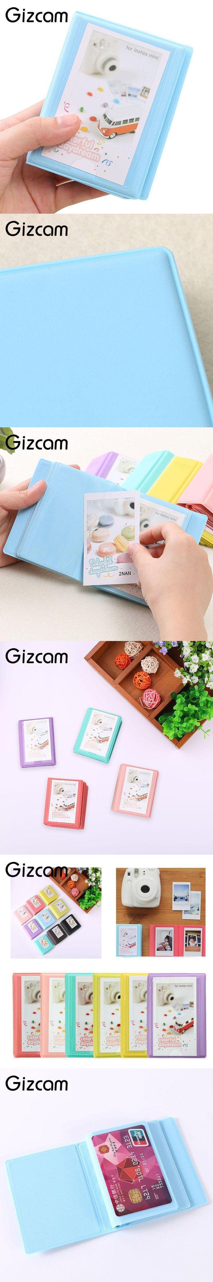 """Gizcam 3"""" Album Storage Case Book 29 Pockets For FujiFilm Polaroid Instax Instant Photo Camera Accessories"""