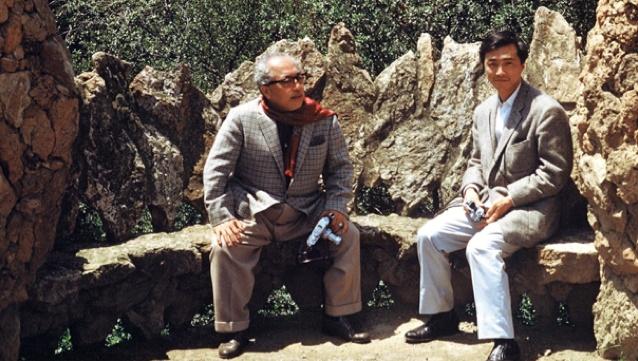Soru y Hiroshi Teshigahara en Barcelona. Foto: via The Criterion Collection