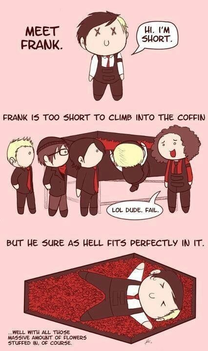 Frank Iero the shortie. Aw so cute!