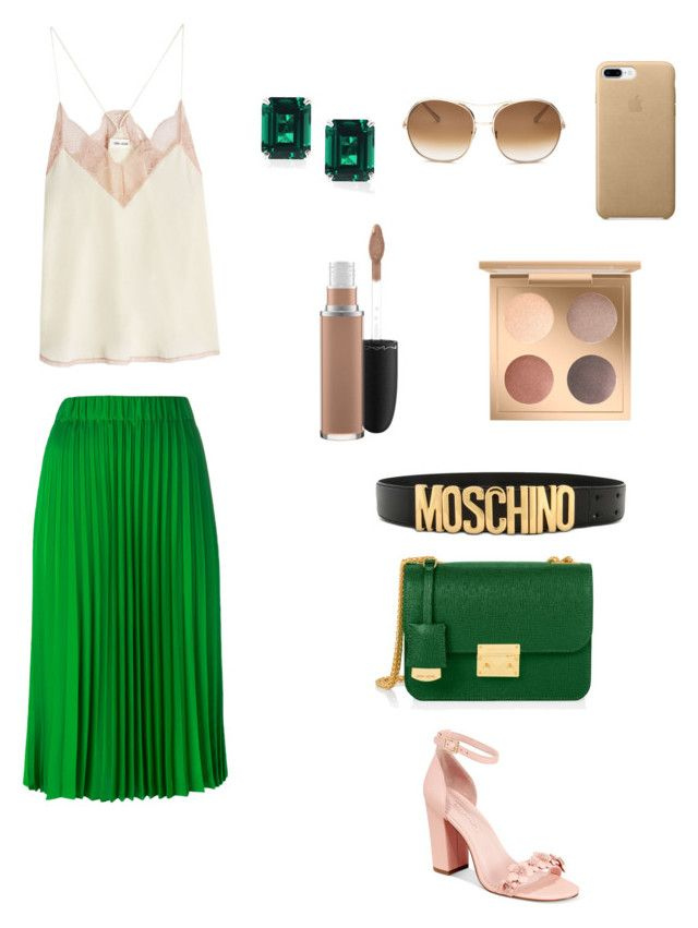 """""""Untitled #8"""" by kassiaraya on Polyvore featuring Henri Bendel, P.A.R.O.S.H., Zadig & Voltaire, Avec Les Filles, Chloé, Moschino, MAC Cosmetics and CARAT* London"""