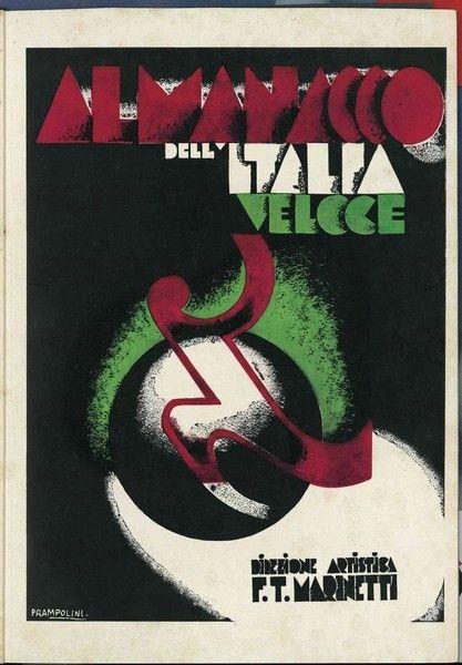 Enrico Prampolini: Almanacco dell'Italia Veloce (book cover), 1930