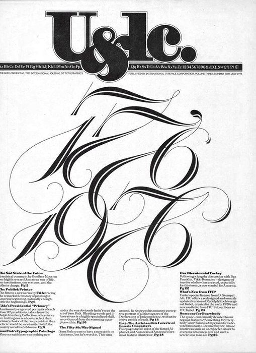 U&lc – Upper and lowercase magazine