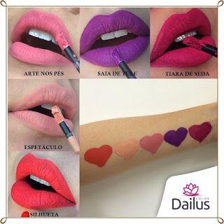 Beleza e etc..: Batom Dailus Líquido Matte Dailus Pro