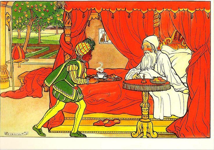 2.Sint krijgt ontbijt op bed, Sinterklaas boek van Rie Cramer