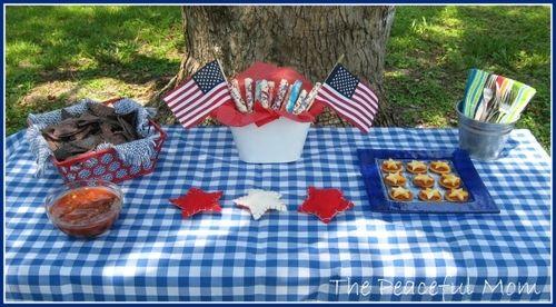 July 4th Budget Menu--The Peaceful MomCharli Birthday, Fun Food, 4Th Budget, Budget Menu Th, Peace, Blue Picnics, July 4Th, 4Th July, 4Th Table'S Th
