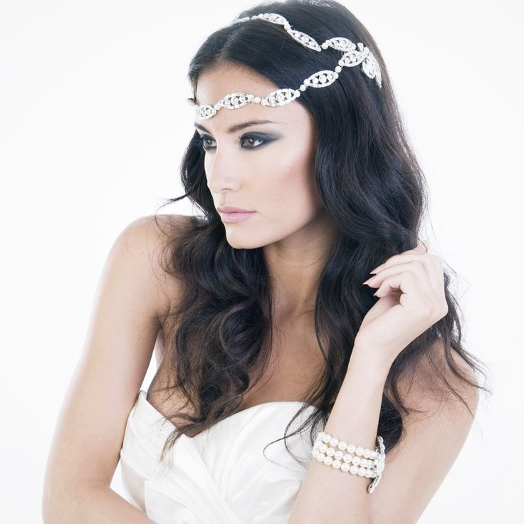 Vintage Hollywood enchantment bridal brow headpiece by Fabledreams