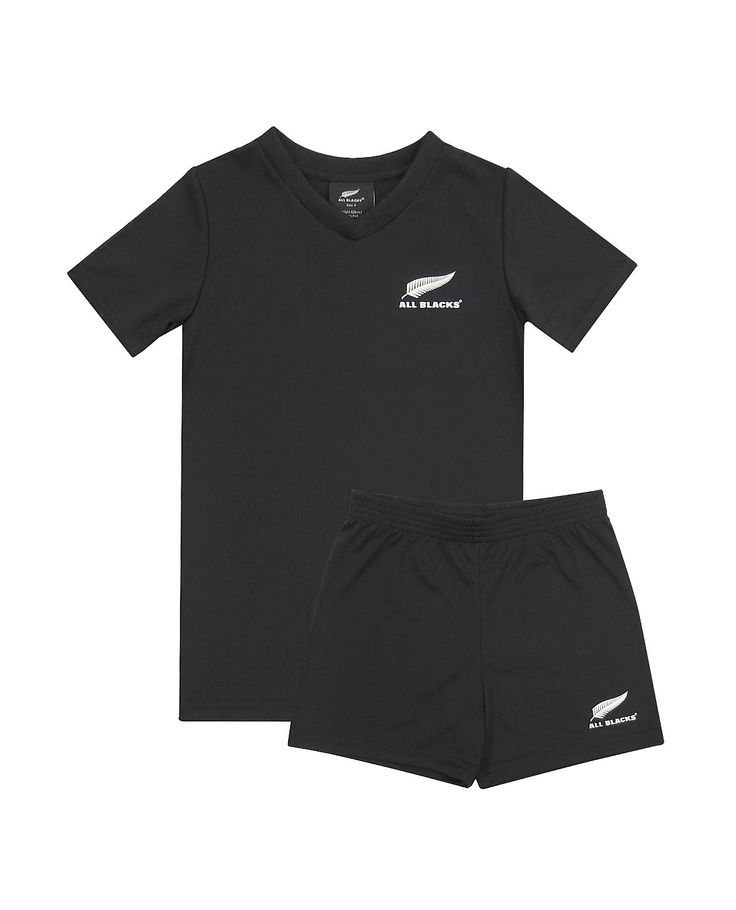 Official All Blacks youth replica jerseys, including tees, hoodies, jackets, track tops and clothing.  $8 delivery anywhere in New Zealand., All Blacks Infants 2 Piece Supporters Set