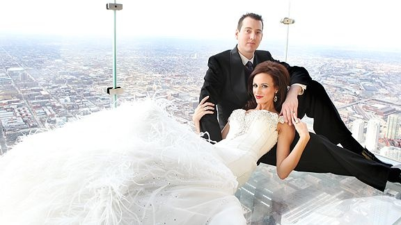 Kyle Bush and his new wife, just beautiful
